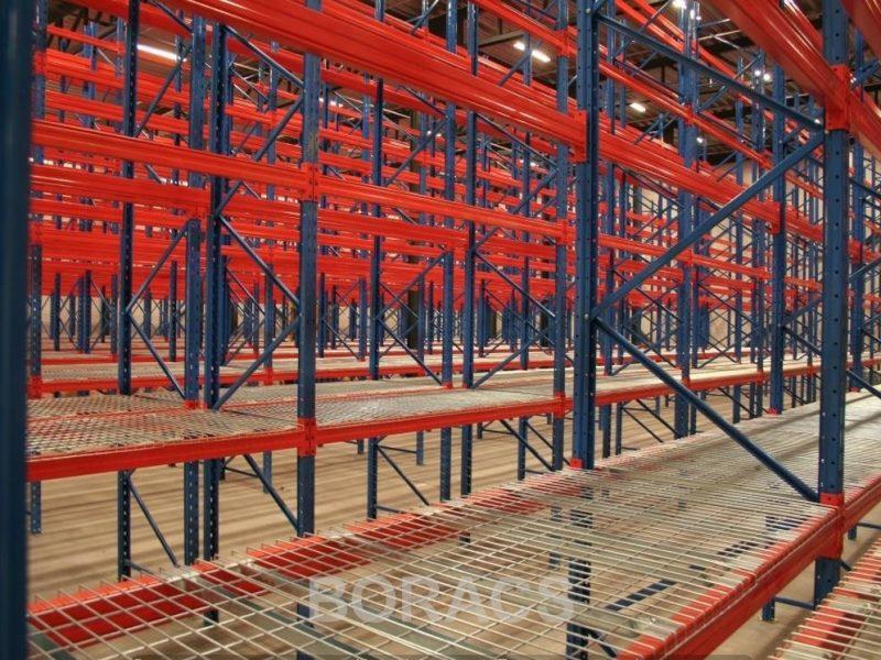Selective Norway selective web wm11 pallet rack à palettes estanterías para palet Palettenregale mesh deck Plateaux fils cubierta de malla de alambre Stålnet hylde